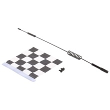 Metal Decorative Antenna with White & Black Flag for 1:10 Traxxas Hsp Redcat RC4WD