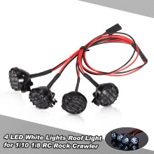 4 LED White Lights with Lampshade Roof Light Search Lamp for 1/10 1/