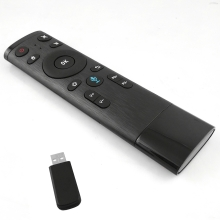 2.4G Wireless Remote Control with USB Receiver Voice Input for Smart TV Android TV Box HTPC PC Projector Black