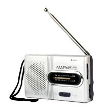 audiomax sr 101 fm am 2 band radio silver - WHOLECHEAP