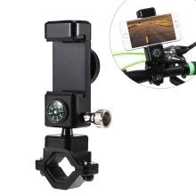 Bike Phone Holder Adjustable Cycling Phone Mount Phone Clamp 360° Rotatable Phone Rack with Light and Compass