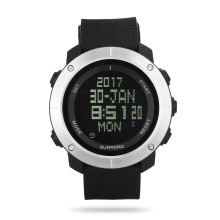 SUNROAD Sports Watch Stopwatch Countdown 5ATM Waterproof Watch