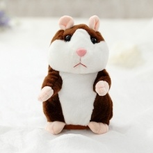 Elettrico Smart Little Talking Hamster Record Ripetibile Peluche Animale Bambola per Bambini 15Cm