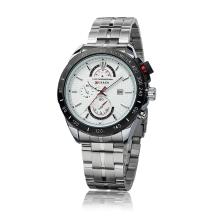 CURREN 8148 Fashion Business Men Wristwatch Water-resistant Stainless Steel Analog Quartz Calendar Date Watch