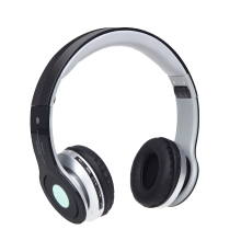 Foldable Wireless BT Stereo Headphone Headset Mic FM TF Slot for iPhone iPad PC Black