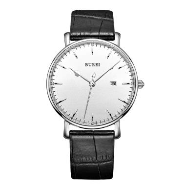BUREI Luxus Echtleder Quarz Uhren