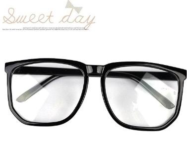 Übergroße Schildkröte Shell Retro Nerdgeek-Schwarz-freie Objektiv-Plain-Brille für Abendkleid