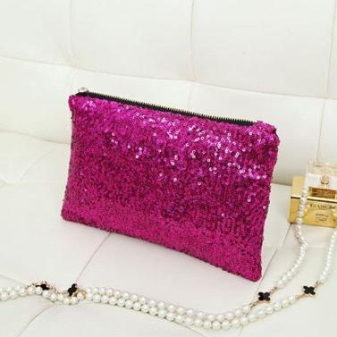 Neue Art und Weise Art-Frauen Sparkle Flitter Clutch Abendtasche Geldbörse Handtasche 3colors