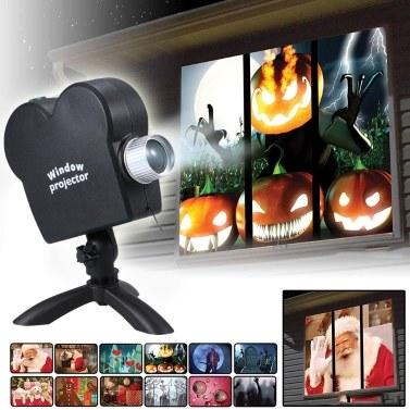 12 фильмов Mini Christmas Halloween Window Домашний кинотеатр с обновленной версией