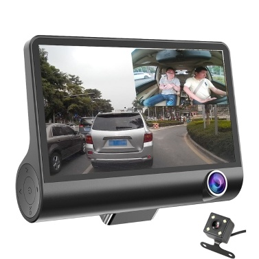 42% off 4 Inch 3 Lens 1080P Night Vision Car DVR Camera Video,limited offer $27.49