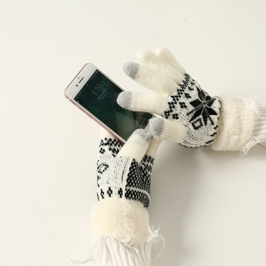 New autumn and winter plus velvet warm gloves