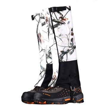 High Leg Gaiters leg Protective Adjustable Waterproof Scratch Proof Wind Dirt Sand Proof Camouflage Snow Boot Gaiters Lightweight Breathable for Outdoor Mountaineering Hiking Backpacking Snowshoeing Trekking