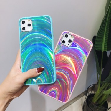 Rainbow Jelly Phone Case Colorful Mirror Cover