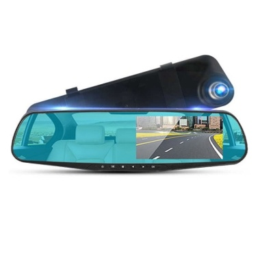 4.0 inch 1080p Car Rearview Mirror Driving Recorder Dual Recording with Reversing Image