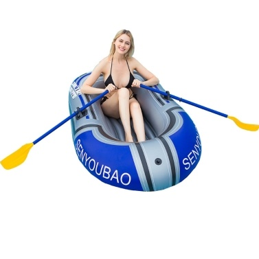 New Style PVC Material Canoe Kayak Rubber Dinghy Thicken Foldable Inflatable Fishing Boat 150cm (Single People Boat Without Oar)