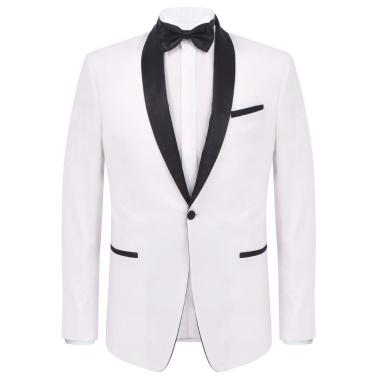 Zweiteiliger Abendanzug Black Tie Smoking Herren Größe 54 Weiß