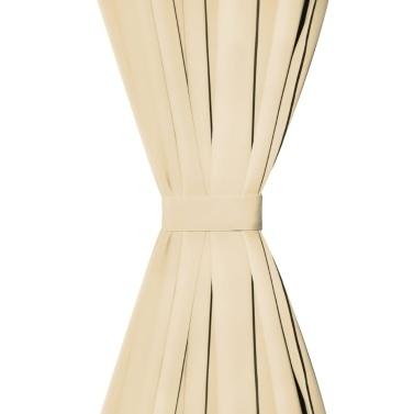 Vorhänge Mikro-Satin 2 Stk. mit Schlaufen 140x245 cm Beige