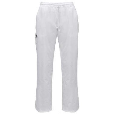 Chef Pants 2 Stück Dehnbarer Bund mit Cord Größe S Weiß