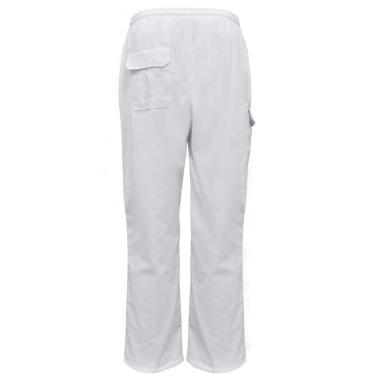 Chef Pants 2 Stück Dehnbarer Bund mit Cord Größe XXL Weiß