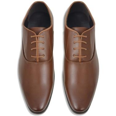 Herren Schnürschuhe Braun Größe 44 PU-Leder