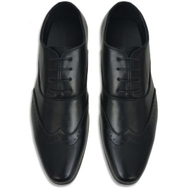 Herren Schnürschuhe Schwarz Größe 40 PU Leder