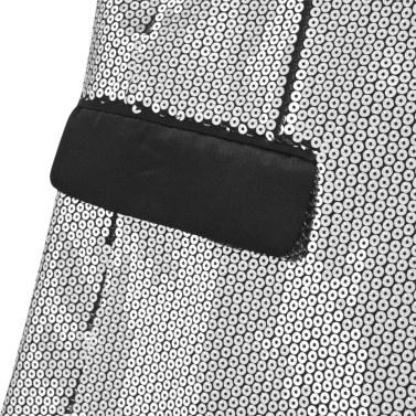 Pailletten Jacke für Smoking Silber Mann Größe 46