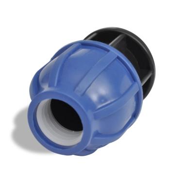 PE-Schlauch-Verbindungs Com. Schraubverschluß 16 Bar 20 mm 2 Stück