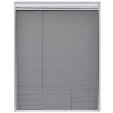 """Insect Plisse Screen Window Aluminum 63""""x43.3"""" with Shade"""