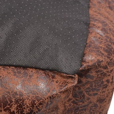 Dog bed with cushion PU synthetic leather size M Brown