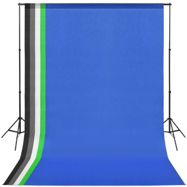Photo Studio Set: 5 Colorful Backgrounds & 2 Umbrellas