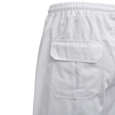 Chef Pants 2 pcs Stretchable Waistband with Cord Size M White