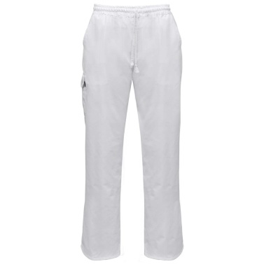 Chef Pants 2 pcs Stretchable Waistband with Cord Size XXL White