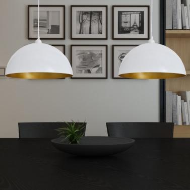 Semi-spherical White Ceiling Lamp 2 pcs