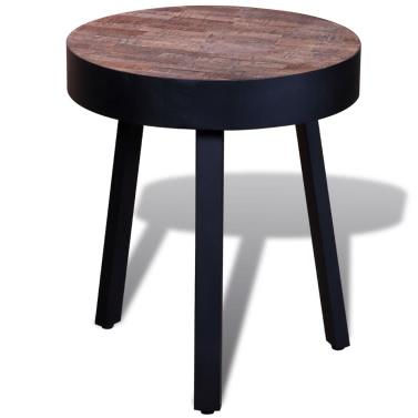 Side Table Round Reclaimed Teak