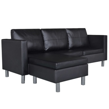 3 Seater L-shaped Leatherette Sectional Sofa