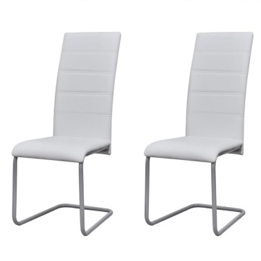 2PCS Cantilever Dining Chairs with High Backrest