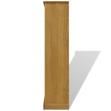 4-Tier Bookcase Mexican Pine Corona Range 81x29x150 cm
