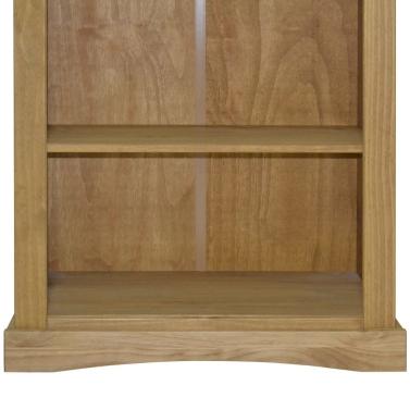 3-Tier Bookcase Mexican Pine Corona Range 81x29x100 cm