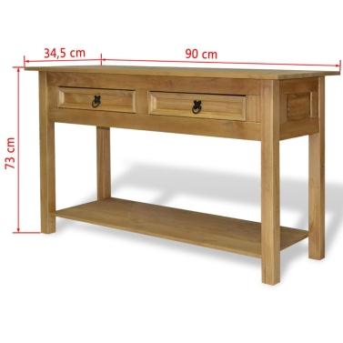 Console Table Mexican Pine Corona Range 90x34,5x73 cm