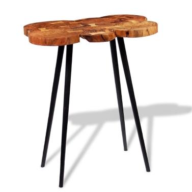 Log Bar Tisch Solid Acacia Holz 90x60x110 cm