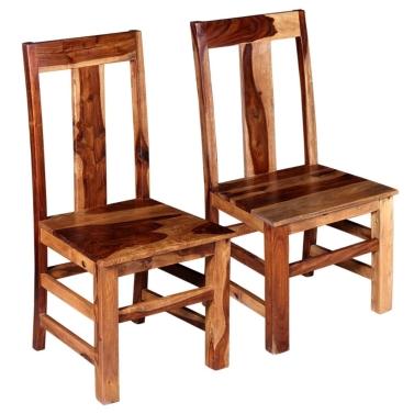 Esszimmerstühle 2 Stück Solid Sheesham Wood