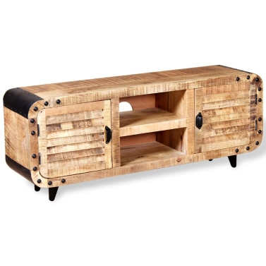 TV Cabinet Rough Mango Wood 120x30x50 cm