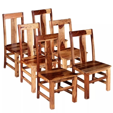 Dining Chairs 6 pcs Solid Sheesham Wood (243964x3)
