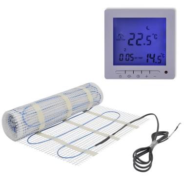 6mu00b2 Underfloor Heating Mat 160W/mu00b2 Twin Programmable Thermostat