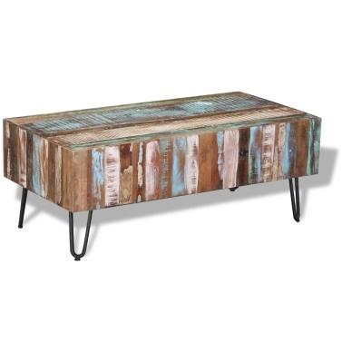 Antiker Massivholz Couchtisch 100x50x38 cm