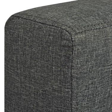 3-Sitzer-Sofa aus dunkelgrauem Stoff