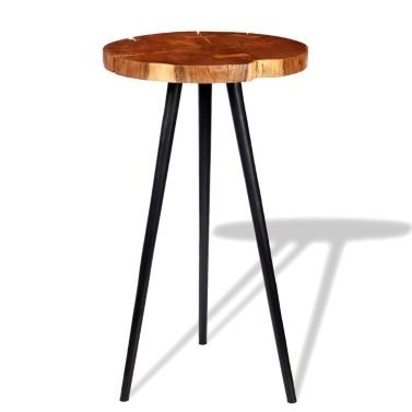 Trunk solid acacia wood bar table (55-60) x110 cm