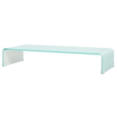 Mobile / Boost White Glass TV Stand 70x30x13 cm