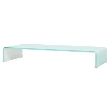 Mobile / Boost White Glass TV Stand 90x30x13 cm