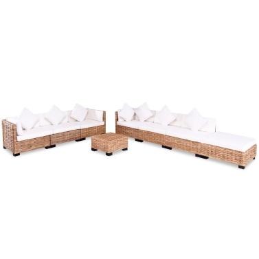 Sectional sofa 27 pcs. Natural rattan
